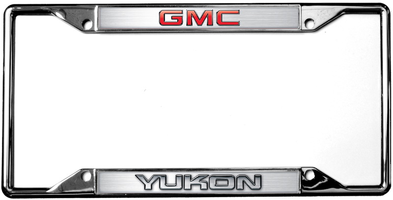 yukon gmc license frames