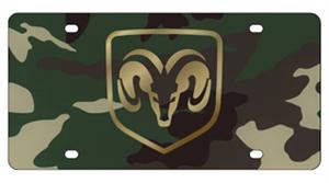 Quot Ram Quot Logo Framed Camo Green